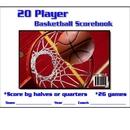 Blazer 5035 Basketball Scorebook 20 Player 30 Games