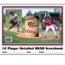 Blazer 5040 Baseball/Softball Detailed 12 Player 25 Games