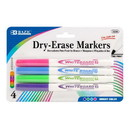 Bazic Products 1204 Bright Color Fine Tip Dry-Erase Marker (4/Pack)