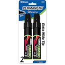 Bazic Products 1213 8 mm Jumbo Chisel Tip Permanent Marker (2/Pack)