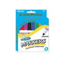 Bazic Products 1225 8 Color Broad Line Jumbo Washable Markers