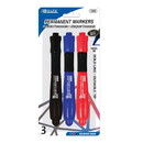 Bazic Products 1245 Assorted Color Bullet Tip Jumbo Permanent Marker w/ Grip (3/Pk)