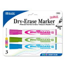 Bazic Products 1249 Bright Color Chisel Tip Dry-Erase Markers (3/Pack)