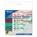 Bazic Products 1272 Bright Color Chisel Tip Dry-Erase Markers (12/Box)