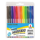 Bazic Products 1280 12 Classic Colors Fine Line Washable Markers