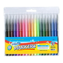 Bazic Products 1281 18 Classic Colors Fine Line Washable Markers