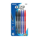 Bazic Products 17019 GX-8 Assorted Color Oil-Gel Ink Pen (6/Pack)