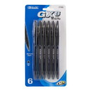 Bazic Products 17020 GX-8 Black Oil-Gel Ink Pen (6/Pack)