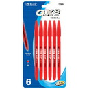 Bazic Products 17022 GX-8 Red Oil-Gel Ink Pen (6/Pack)