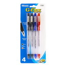 Bazic Products 17026 G-Flex Assorted Color Oil-Gel Ink Pen w/ Cushion Grip (4/Pack)