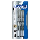 Bazic Products 1702 Dayton Black Rollerball Pen with Metal Clip (3/Pack)