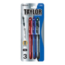 Bazic Products 1703-144 Taylor Assorted Color Rollerball Pen (3/Pack)