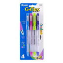 Bazic Products 17030 4 Color G-Flex Oil-Gel Ink Pen w/ Cushion Grip