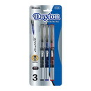 Bazic Products 1705 Dayton Assorted Color Rollerball Pen w/ Metal Clip (3/Pk)