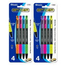 Bazic Products 17061 Spyder Oil-Gel Ink Retractable Pen (4/Pack)