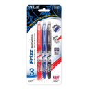 Bazic Products 17065 Frizz Assorted Color Erasable Gel Pen with Grip (3/Pack)