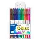 Bazic Products 17070 10 Color G-Flex Oil-Gel Ink Pen w/ Cushion Grip