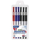 Bazic Products 1734 Essence Asst Color Gel-Pen w/ Cushion Grip (6/Pack)