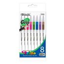 Bazic Products 1739 8 Color Prima Stick Pen w/ Cushion Grip