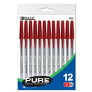 Bazic Products 1754 Pure Red Stick Pen (12/pack)