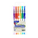 Bazic Products 1796 6 Glitter Color Essence Gel Pen w/ Cushion Grip