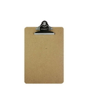 Bazic Products 1802 Memo Size Hardboard Clipboard w/ Sturdy Spring Clip