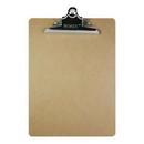 Bazic Products 1803 Standard Size Hardboard Clipboard w/ Sturdy Spring Clip