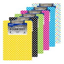 Bazic Products 1812 Standard Size Polka Dot Paperboard Clipboard w/ Low Profile Clip
