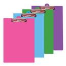 Bazic Products 1829 Bright Color PVC Standard Clipboard w/ Low Profile Clip