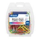 Bazic Products 204 No.1 Regular (33mm) Color Paper Clips (200/Pack)