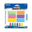 Bazic Products 2225 Neon Eraser Sets (12/Pack)