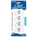 Bazic Products 2230 White Oval Eraser (4/Pack)