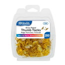 Bazic Products 229 Brass (Gold) Thumb Tack (200/Pack)