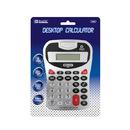 Bazic Products 3008-12 8-Digit Silver Desktop Calculator W/ Tone