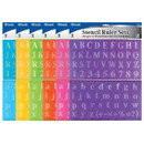 Bazic Products 305 20mm Size Lettering Stencil Ruler Sets (2/Pack)