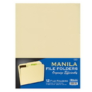 Bazic Products 3100 1/3 Cut Letter Size Manila File Folder (12/Pack)