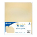 Bazic Products 3103 1/3 Cut Letter Size Manila File Folder (9/Pack)