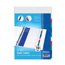 Bazic Products 3107 3-Ring Binder Dividers w/ 10-Color Tabs