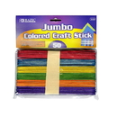 Bazic Products 3434 Jumbo Colored Craft Stick (50/Pack)