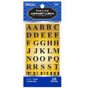 Bazic Products 3803 Gold Foil Alphabet Label (378/Pack)