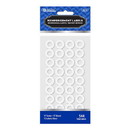 Bazic Products 3810 White Round Reinforcement Label (544/Pack)