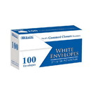 Bazic Products 5046 #6 3/4 White Envelope w/ Gummed Closure (100/Pack)