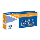 Bazic Products 5049 #10 Security Envelope w/ Gummed Closure (40/Pack)