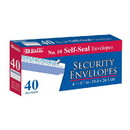 Bazic Products 575 #10 Self-Seal Security Envelope (40/Pack)