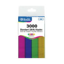 Bazic Products 609 3000 Ct. Standard (26/6) Metallic Color Staples