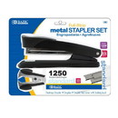 Bazic Products 680 Metal Full Strip Stapler Set