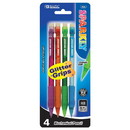 Bazic Products 702 Sparkly 0.7mm Mechanical Pencil w/ Glitter Grip (4/Pk)
