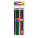 Bazic Products 712 Metallic Laser Foil Wood Pencil w/ Eraser (8/Pack)