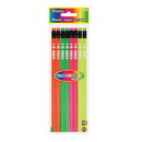 Bazic Products 714 Fluorescent Wood Pencil w/ Eraser (8/pack)
