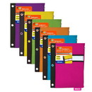 Bazic Products 802 Bright Color 3-Ring Pencil Pouch